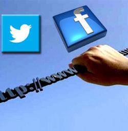 Facebook ve Twitter'in yavaşlatılmasına suç duyurusu