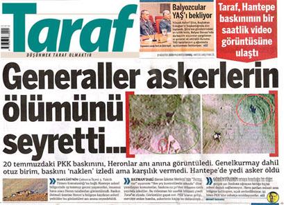 Kritik YAŞ'ta Taraf'tan şok iddialar
