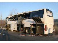 Uşakta otobüs şarampole yuvarlandı: 7 ölü