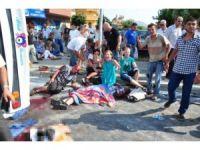 Alanyada midibüs devrildi: 1 ölü - İZLE