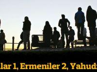 Rumlar 1, Ermeniler 2, Yahudiler 3