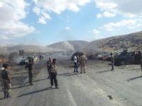 Suriye sınırında şiddetli patlama - İZLE