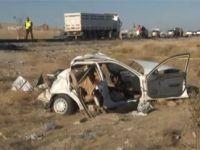 Düğün konvoyunda kaza 5 ölü 1 yaralı
