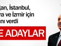 AK Partinin 8 büyükşehir adayı!