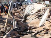 Gaziantepte doğalgaz boru hattı patladı