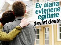 Ev alana, evlenene devlet desteği