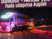 Balıkesir-Akhisar yolunda çalışmalar sürüyor