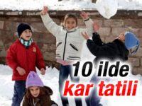 Eskişehir dahil 10 ilde kar tatili