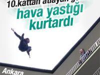 Ankara'da intihar girişimini hava yastığı kurtardı
