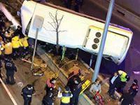 Başkent'te özel halk otobüsü alt geçide uçtu