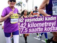 Amerika'da 92 yaşındaki kadın maratonu tamamladı