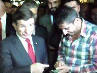 Taşeron işçi 'çözüm' istedi, Davutoğlu 'garipsedi': Taşeron ama telefonu var