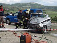 Çorum'da korkunç kaza: 2 ölü, 3 yaralı
