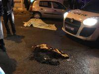 Genç kadın, sokak ortasında yanarak öldü