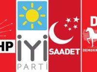 CHP, İYİ Parti, SP, ve DP ittifak konusunda anlaştı