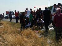 Manisa'da feci kaza: 2 ölü, 8 yaralı