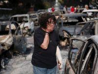 Dünya alev alev yanan Yunanistan için tek yürek oldu… Ölü sayısı 74'e çıktı