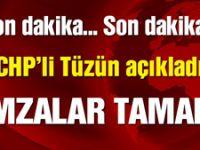 CHP'li muhalifler yeterli imzayı topladı!