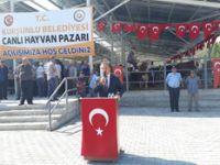 Çankırı'nın ilk ruhsatlı hayvan pazarı Kurşunlu'da açıldı