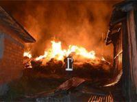 Kastamonu'nun Tosya ilçesinde çıkan yangında 8 ev tamamen yandı