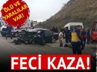 Manisa'da işçi servisiyle otomobil çarpıştı: 1 ölü, 19 yaralı