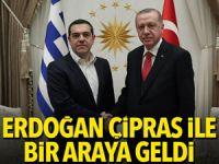 Erdoğan, Çipras ile bir araya geldi