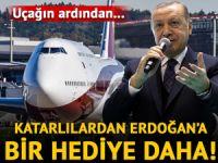 Katarlılar'dan Erdoğan'a bir hediye daha! Uçağın ardından...