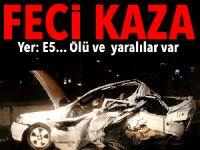 D-100 Karayolu'nda zincirleme kaza: 1 ölü, 4 yaralı