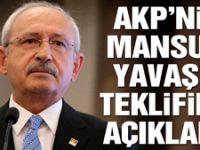 Kılıçdaroğlu, AKP'nin Mansur Yavaş'a teklifini açıkladı
