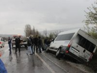 Çankırı-Korgun yolunda kaza: 15 yaralı