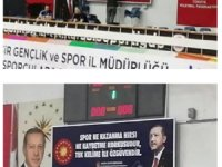 Balıkesir'de Atatürk'ün sözünü indirip yerine Erdoğan'ın sözünü astılar