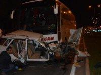 Kırşehir'de yolcu otobüsü otomobile çarptı: 3 ölü