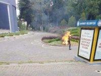 Gaziantep'de işsiz vatandaş kendisini yaktı!