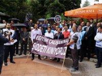 Çankırı'da darp edilen öğretmen için yüzlerce kişi yürüdü