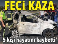 Tekirdağ'da feci kaza: Beş kişi hayatını kaybetti