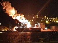 İzmir'de LPG gemisinde patlama: Bir ölü 16 yaralı