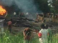 Nijerya'da petrol tankeri patladı: En az 50 ölü var