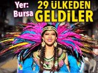 Bursa'da sokaklar rengarenk oldu