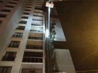 Ankara/Etimesgut'da çok katlı bina alevler içinde kaldı