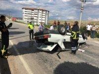 Çankırı'da otomobil takla attı! 2 yaralı