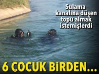 Adana'da 6 çocuk akıntıya kapıldı! 2'si kayboldu!