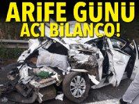 Bayram arefesinde trafik kazaları bilançosu: 10 ölü, 76 yaralı