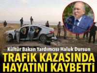 Kültür Bakan Yardımcısı Haluk Dursun trafik kazasında hayatını kaybetti