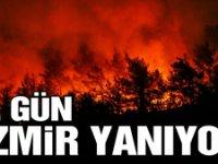 İzmir'de yangın 3 gündür söndürülemedi!