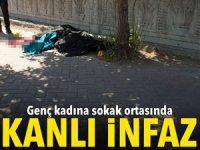 Ağrı'da genç kadına sokak ortasında kanlı infaz!