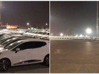 Yüzlerce araç gece yarısı Yenikapı'ya getirildi