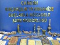 Çankırı'da tarihi eser operasyonu 1 gözaltı