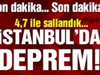 İstanbul depremle sallandı! 4.7'lik İstanbul depremi korkuttu…