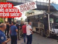 Adana'da polis otobüsüne bombalı saldırı: 1'i polis 5 yaralı