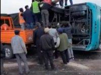 Çankırı'ya cenaze getiren otobüs devrildi! 2'si ağır 25 yaralı